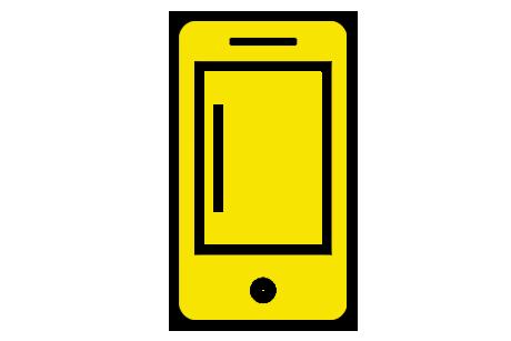telefoon-geel